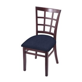 """3130 18"""" Chair with Dark Cherry Finish and Graph Anchor Seat"""