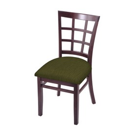 """3130 18"""" Chair with Dark Cherry Finish and Graph Parrot Seat"""