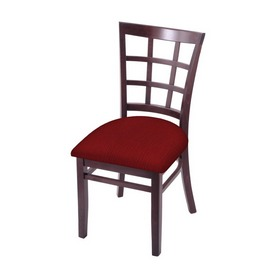 """3130 18"""" Chair with Dark Cherry Finish and Graph Ruby Seat"""