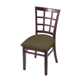 """3130 18"""" Chair with Dark Cherry Finish and Graph Cork Seat"""