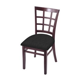 """3130 18"""" Chair with Dark Cherry Finish and Graph Coal Seat"""