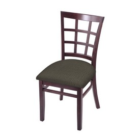 """3130 18"""" Chair with Dark Cherry Finish and Graph Chalice Seat"""
