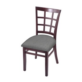 """3130 18"""" Chair with Dark Cherry Finish and Graph Alpine Seat"""