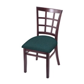 """3130 18"""" Chair with Dark Cherry Finish and Graph Tidal Seat"""