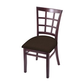 """3130 18"""" Chair with Dark Cherry Finish and Rein Coffee Seat"""