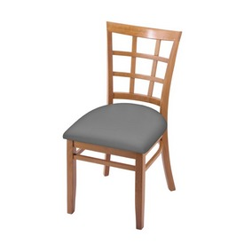 """3130 18"""" Chair with Medium Finish and Canter Folkstone Grey Seat"""