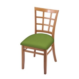 """3130 18"""" Chair with Medium Finish and Canter Kiwi Green Seat"""