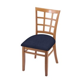 """3130 18"""" Chair with Medium Finish and Graph Anchor Seat"""