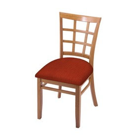 """3130 18"""" Chair with Medium Finish and Graph Poppy Seat"""