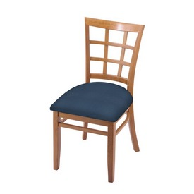 """3130 18"""" Chair with Medium Finish and Rein Bay Seat"""