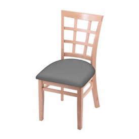 """3130 18"""" Chair with Natural Finish and Canter Folkstone Grey Seat"""