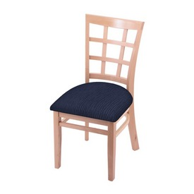 """3130 18"""" Chair with Natural Finish and Graph Anchor Seat"""