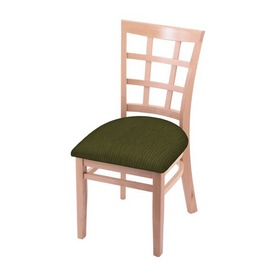 """3130 18"""" Chair with Natural Finish and Graph Parrot Seat"""