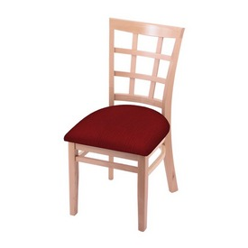 """3130 18"""" Chair with Natural Finish and Graph Ruby Seat"""