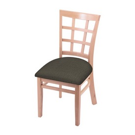 """3130 18"""" Chair with Natural Finish and Graph Chalice Seat"""
