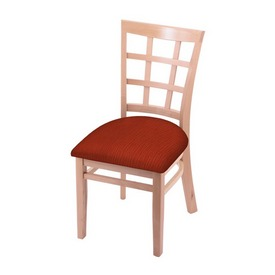 """3130 18"""" Chair with Natural Finish and Graph Poppy Seat"""