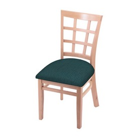 """3130 18"""" Chair with Natural Finish and Graph Tidal Seat"""