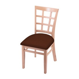 """3130 18"""" Chair with Natural Finish and Rein Adobe Seat"""