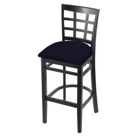 3130 Stool with Black Finish and Canter Twilight Seat