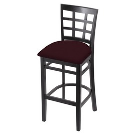 3130 Stool with Black Finish and Canter Bordeaux Seat