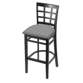3130 Stool with Black Finish and Canter Folkstone Grey Seat