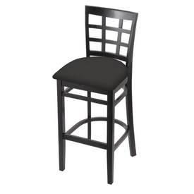 3130 Stool with Black Finish and Canter Iron Seat
