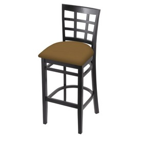 3130 Stool with Black Finish and Canter Saddle Seat