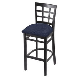 3130 Stool with Black Finish and Graph Anchor Seat