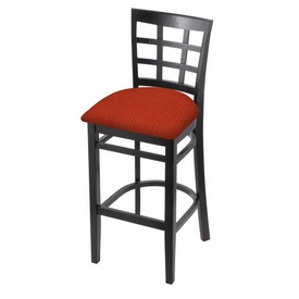 3130 Stool with Black Finish and Graph Poppy Seat