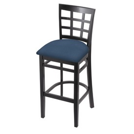 3130 Stool with Black Finish and Rein Bay Seat