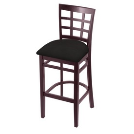 3130 Stool with Dark Cherry Finish and Canter Espresso Seat