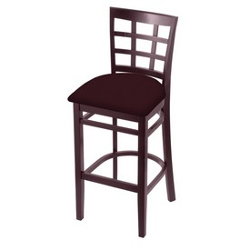 3130 Stool with Dark Cherry Finish and Canter Bordeaux Seat