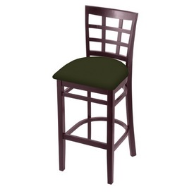 3130 Stool with Dark Cherry Finish and Canter Pine Seat