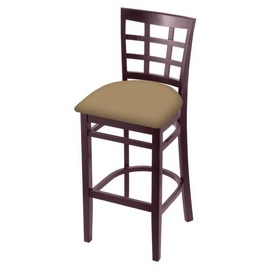 3130 Stool with Dark Cherry Finish and Canter Sand Seat