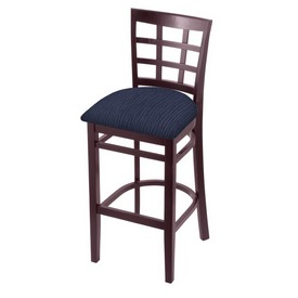 3130 Stool with Dark Cherry Finish and Graph Anchor Seat