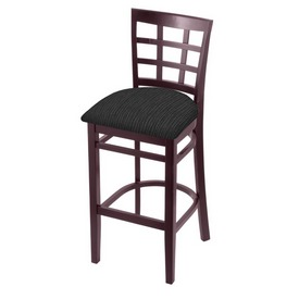 3130 Stool with Dark Cherry Finish and Graph Coal Seat