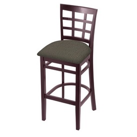 3130 Stool with Dark Cherry Finish and Graph Chalice Seat