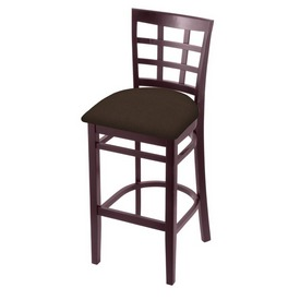 3130 Stool with Dark Cherry Finish and Rein Coffee Seat