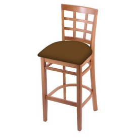 3130 Stool with Medium Finish and Canter Thatch Seat