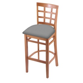 3130 Stool with Medium Finish and Canter Folkstone Grey Seat