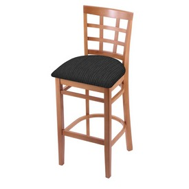 3130 Stool with Medium Finish and Graph Coal Seat