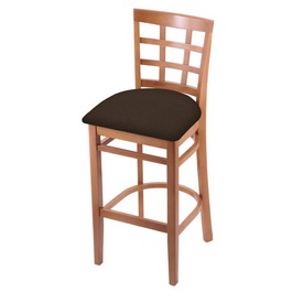 3130 Stool with Medium Finish and Rein Coffee Seat