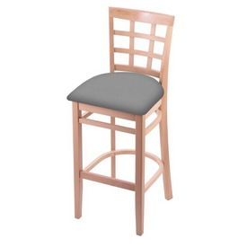 3130 Stool with Natural Finish and Canter Folkstone Grey Seat