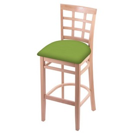 3130 Stool with Natural Finish and Canter Kiwi Green Seat