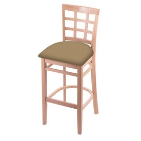 3130 Stool with Natural Finish and Canter Sand Seat