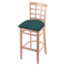 3130 Stool with Natural Finish and Graph Tidal Seat