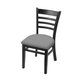 """3140 18"""" Chair with Black Finish and Canter Folkstone Grey Seat"""