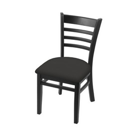 """3140 18"""" Chair with Black Finish and Canter Iron Seat"""
