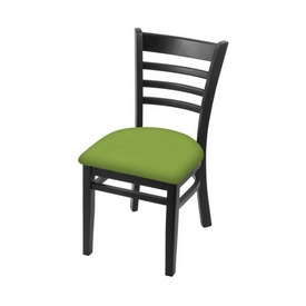 """3140 18"""" Chair with Black Finish and Canter Kiwi Green Seat"""