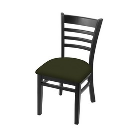 """3140 18"""" Chair with Black Finish and Canter Pine Seat"""
